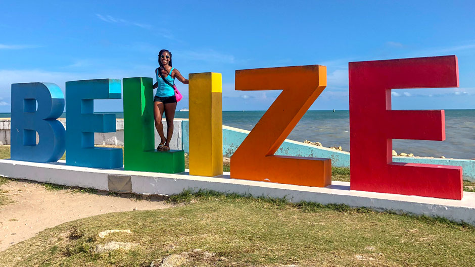 Doctoral candidate Adrianne Wilson in Belize