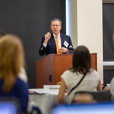 Provost Jeffrey Duerk addresses U-LINK grantees