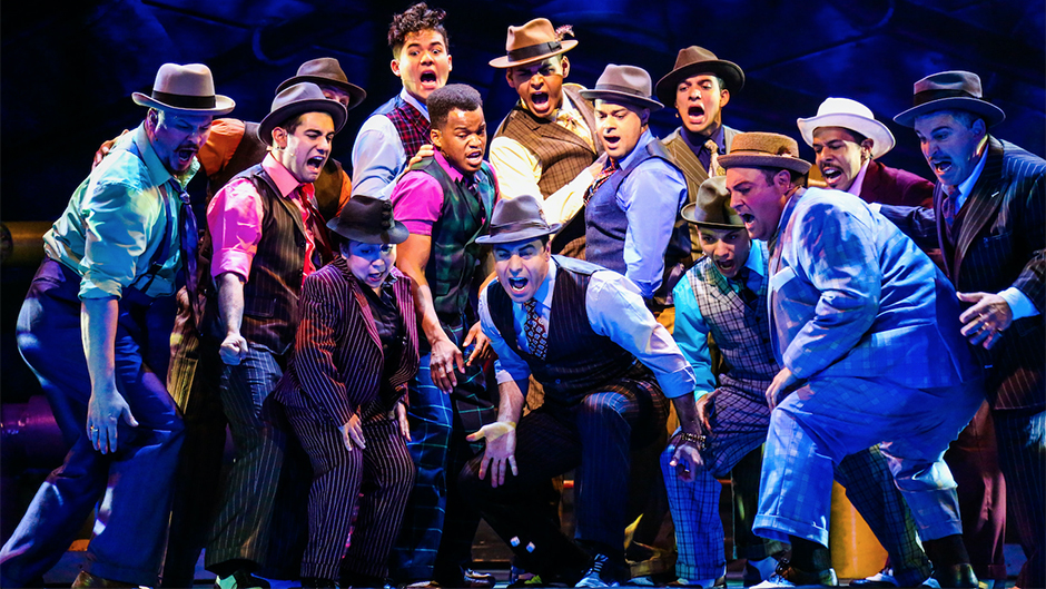 The University of Miami's Julio Agustin Matos, Jr., choreographed the Latinx-inspired production of 'Guys and Dolls.'