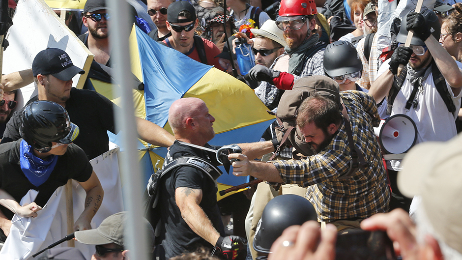 In 2017, white nationalist demonstrators clashed with counter demonstrators in Charlottesville, Va.