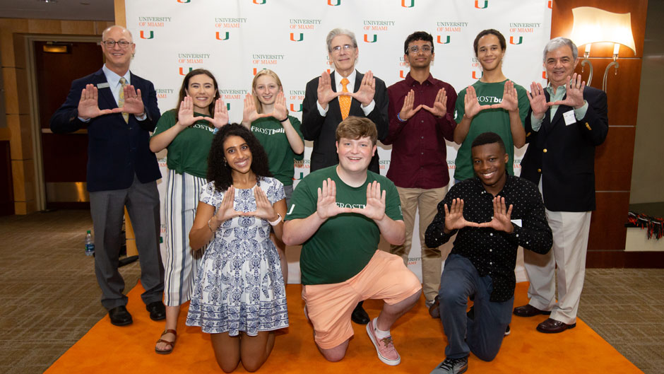Eight new Stamps Scholars joined the University of Miami this semester, bringing to 34 the total number of Stamps Scholars on campus.