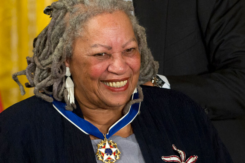 Author Toni Morrison received the Presidential Medal of Freedom award from President Barack Obama in 2012. Photo: Carolyn Kaster/Associated Press