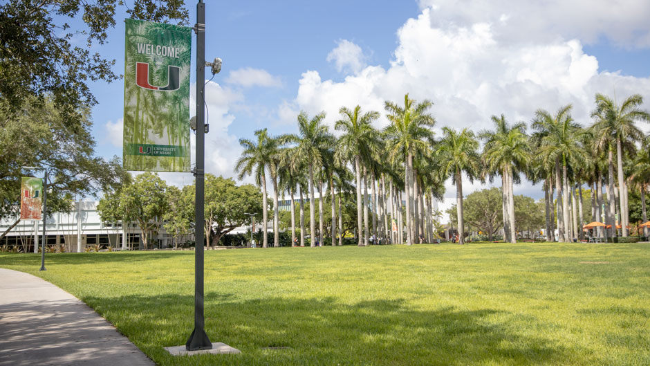 University of Miami Information Technology, working with Facilities Operations and Planning, spent the summer improving outdoor wireless coverage and reliability across the Coral Gables campus.