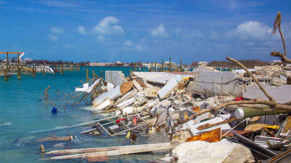 Utter devastation in Marsh Harbour, Bahamas following Hurricane Dorian.