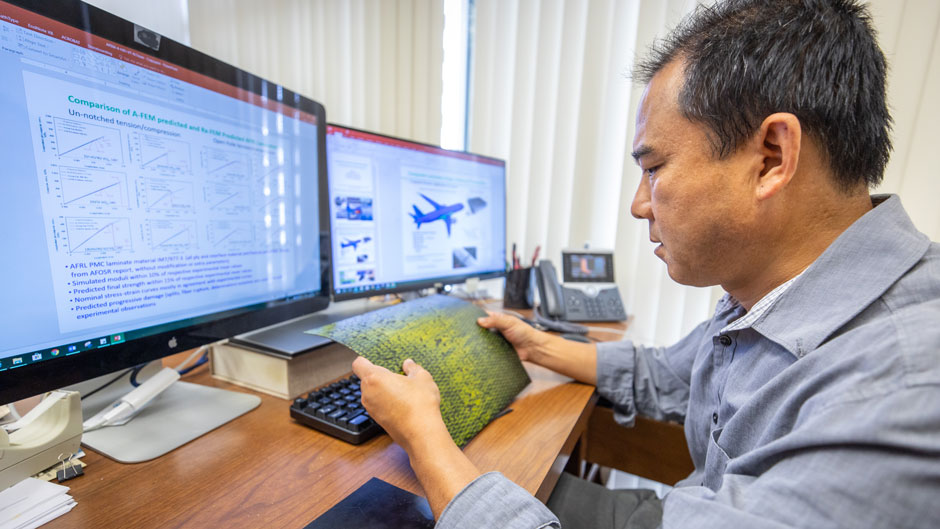 A University of Miami materials engineer is developing a method that will help the aviation industry learn more about the strength and durability of composite materials.