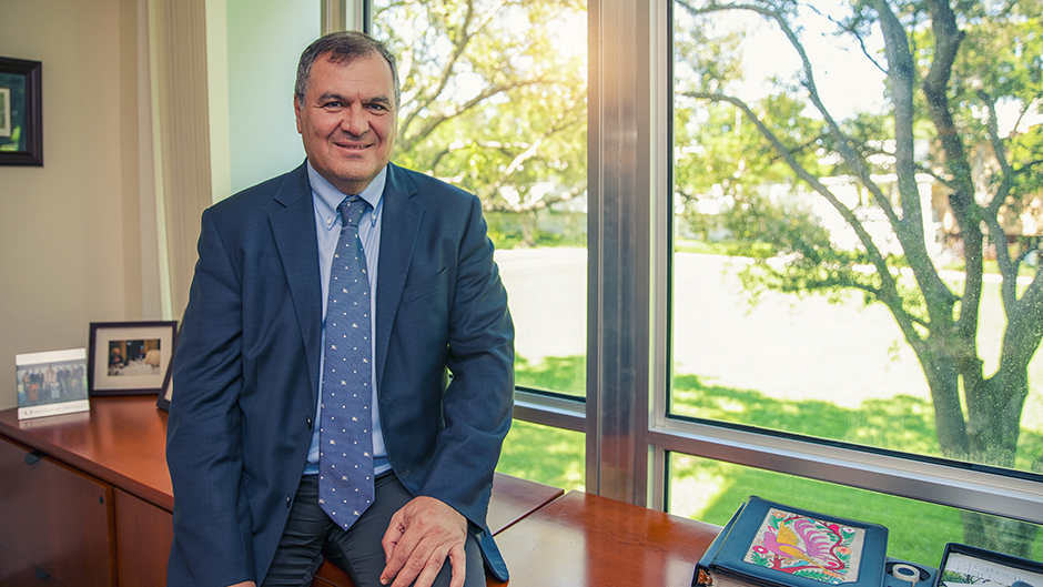 College of Arts and Sciences Dean Leonidas G. Bachas is serving as interim director of the Frost Institutes of Science and Engineering, and its first center, the Frost Institute of Chemistry and Molecular Science
