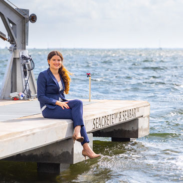 Vanessa Benzecry, the University of Miami College of Engineering graduate student who, working closely with Miami-based Dock and Marine Construction, spearheaded the entire project.