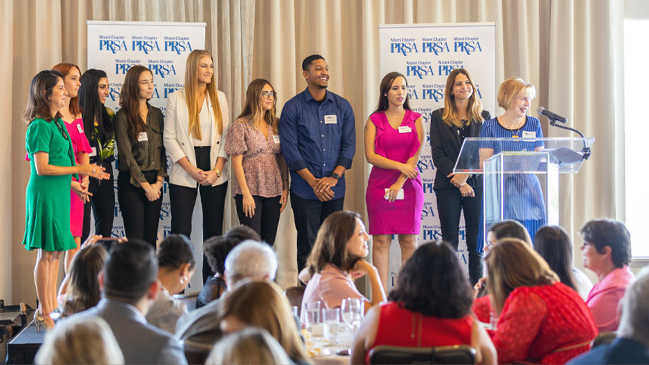 PRSA Scholarship winners
