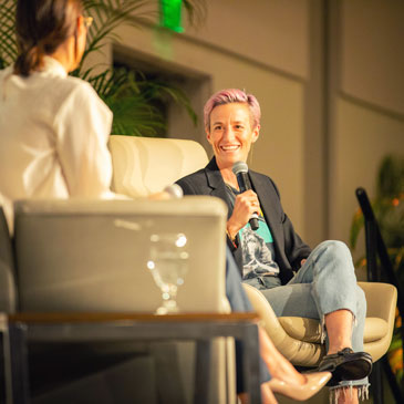 Two-time World Cup Champion and co-captain of the US Women's National Team, Megan Rapinoe is a fan favorite and one of the team's most technical players. A vocal leader on and off the pitch, Megan helped lead the USWNT to the 2019 Women's World Cup Championship scoring some of the biggest goals of the tournament.
