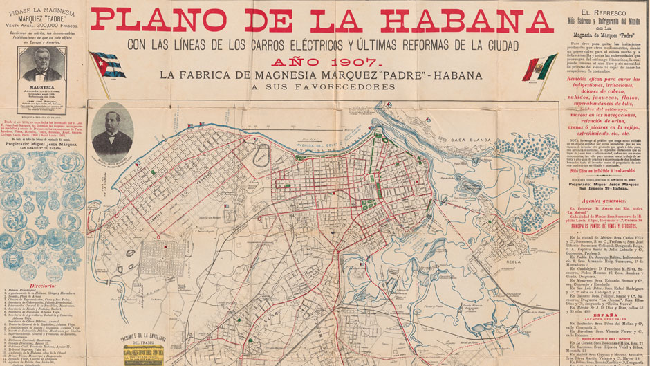 Map of Havana, 1907