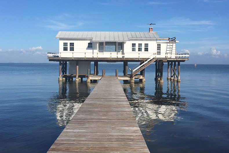 Artist Robert Rauschenberg's Fish House on Captiva Island