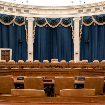The House Ways and Means Committee hearing room, where the first public session will be held. Photo: Associated Press
