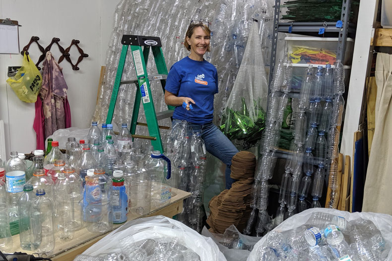 Jenna Efrein, a senior lecturer in glass in the University of Miami's Art and Art History Department, wants your help collecting thousands of plastic bottles for her next installation.