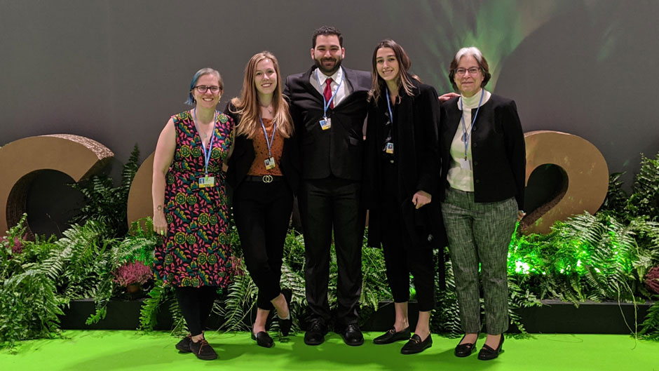 Three students from University of Miami Law School professor of law Jessica Owley's UN negotiations class are in Madrid for the first week of the COP25 climate change summit.