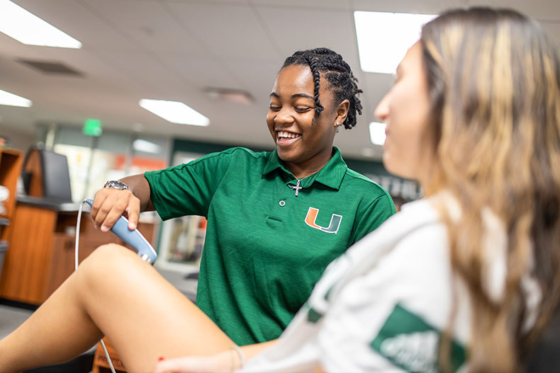 Dynesha Peterson, University of Miami, UM, athletic training