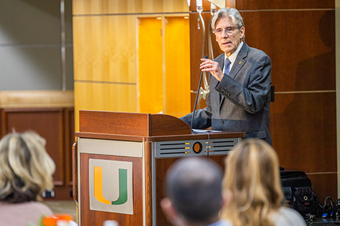 President Julio Frenk at ULINK workshop