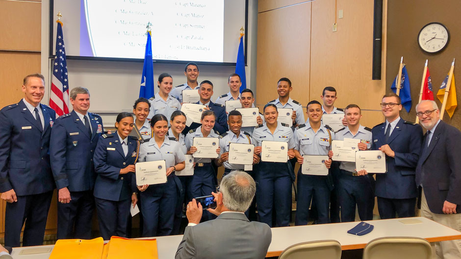 University of Miami's Air Force Reserve Officer Training Corps hosted a scholarship ceremony for 52 area recipients.