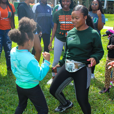 Black Awareness Month service day on Foote University Green