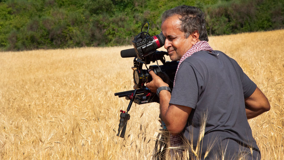 Sanjeev Chatterjee while filming in Gubbio, Italy as part of the Food Project that Sweet Malady in part of. PHOTO: Uma Chatterjee