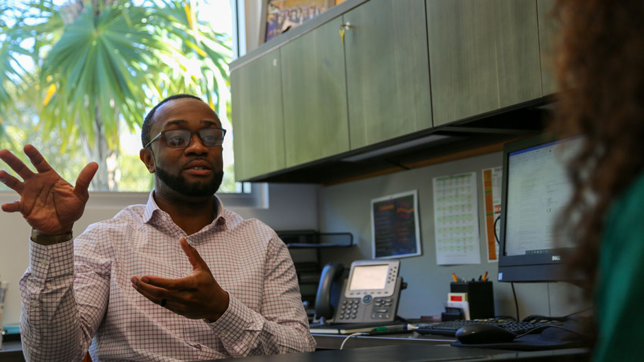 Christopher Clarke, new director of Multicultural Student Affairs