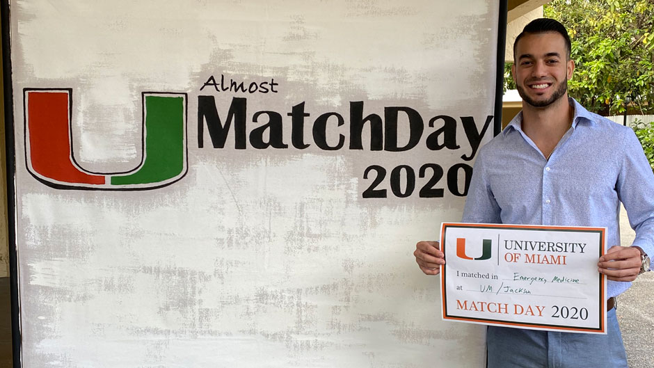 Alain Artiles matched in emergency medicine at UM/Jackson