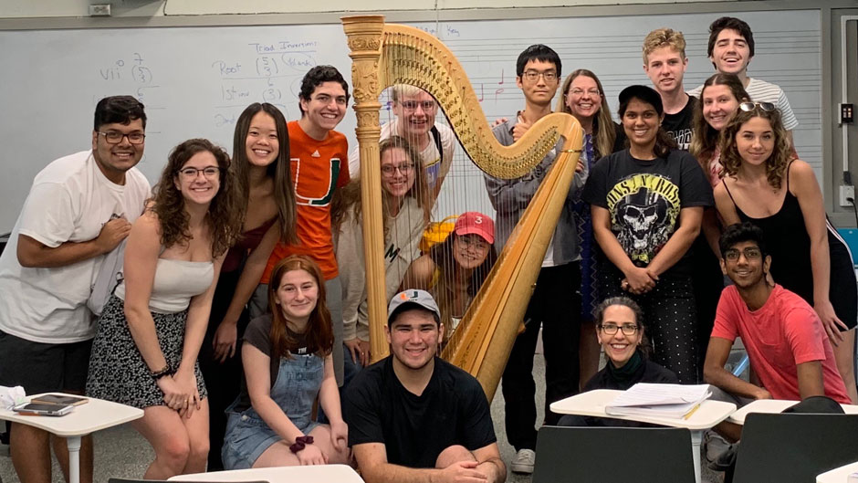 Laura Sherman's music theory class was elated and inspired after they received audio communication from a singing and acting legend.