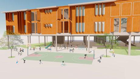 Larah Biondo and Alexia Lohken's Marsh Harbour Resiliency Center designs