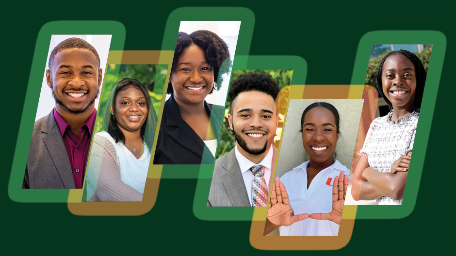 Members of the Black Student Leadership Caucus at the University of Miami