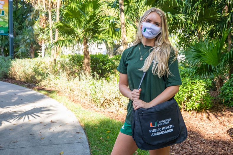 Alexandra Fioto shares why she thinks it's important for 'Canes to care for other 'Canes. Photo: Mike Montero/University of Miami