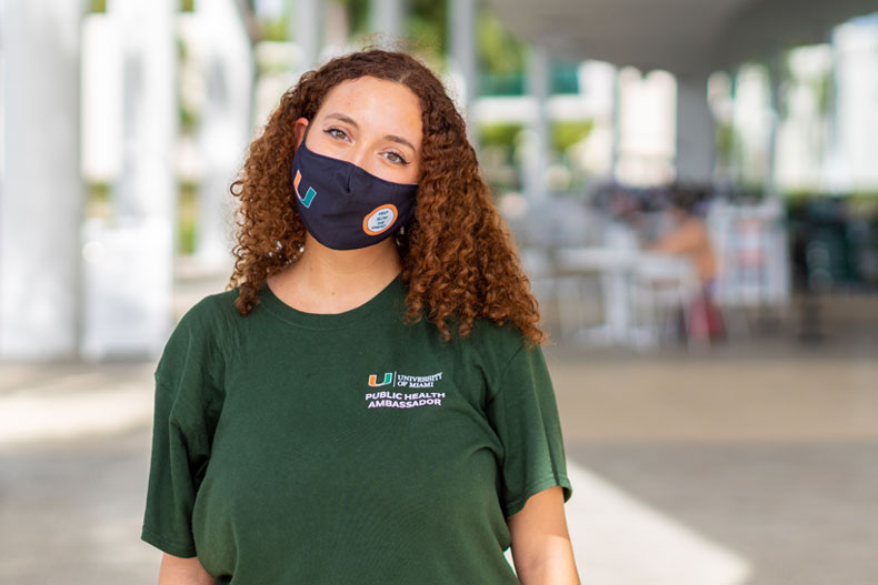 University of Miami senior Evelyn Menkes fulfilled a personal desire by becoming a public health ambassador and promoting health and safety during the pandemic.