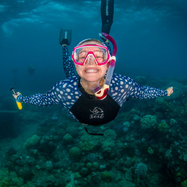 Sabrina Ufer, student founder of the freediving club