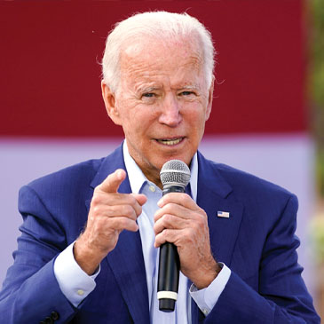 Democratic presidential candidate former Vice President Joe Biden speaks during a Biden for President Black economic summit at Camp North End in Charlotte, N.C., Wednesday, Sept. 23, 2020. (AP Photo/Carolyn Kaster)