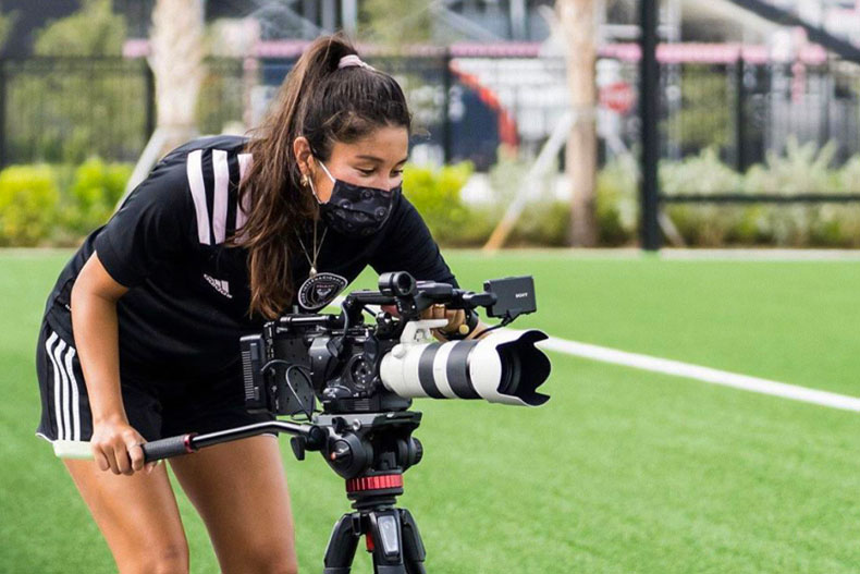Lauren Markwith on the sidelines for Inter Miami