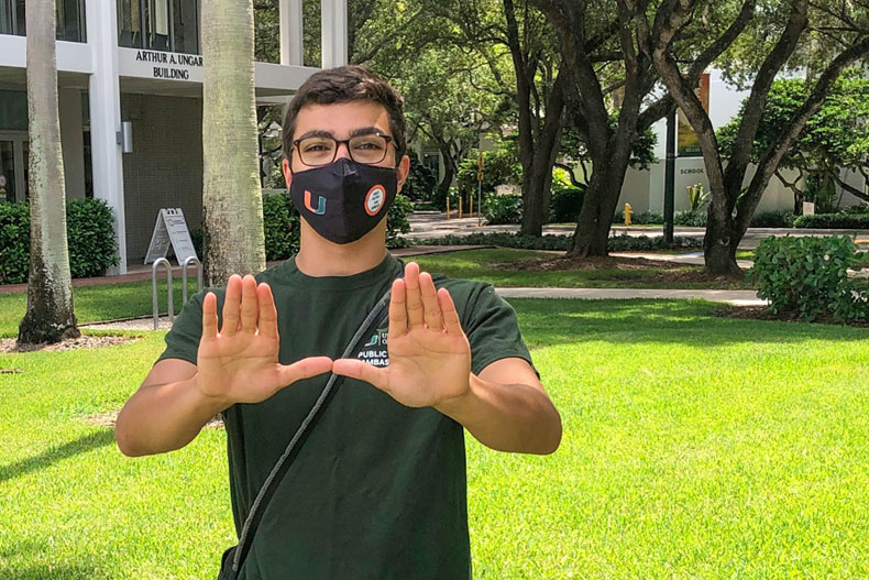 Michael Antonietti, a senior majoring in biochemistry and nutrition, looks forward to a future career that includes public health.