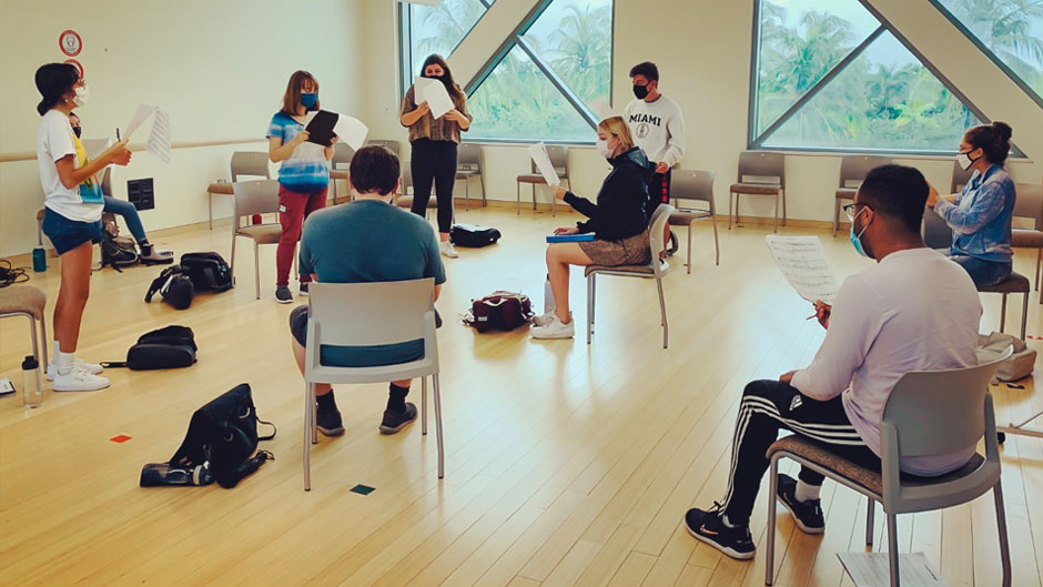 Students in class at the Frost School of Music