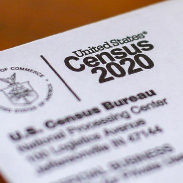 This April 5, 2020, file photo shows an envelope containing a 2020 census letter mailed to a U.S. resident in Detroit. The Supreme Court's decision to allow the Trump administration to end the 2020 census was another case of whiplash for the census, which has faced stops from the pandemic, natural disasters and court rulings. (AP Photo/Paul Sancya, File)
