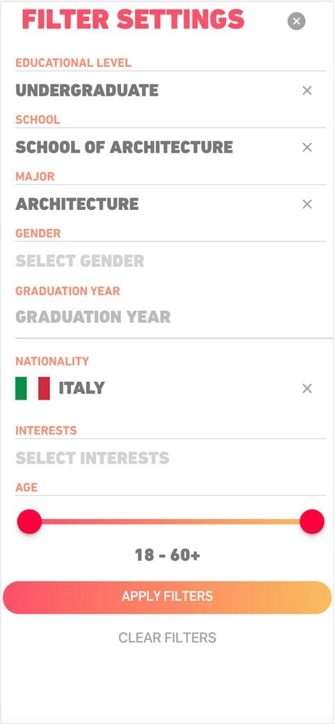 Eurekamatch app interface example
