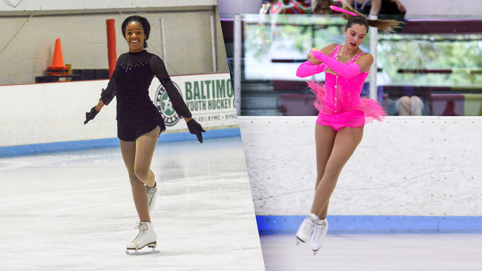 Aliya Redd and Ainsley Vetter figured skated competitively while in high school.