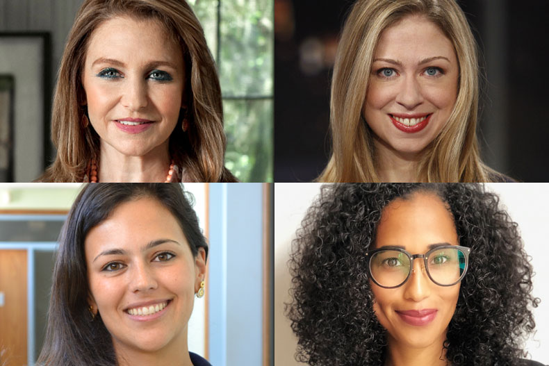 Felicia Knaul, Chelsea Clinton, Carolina Coll, and Beverley Essue