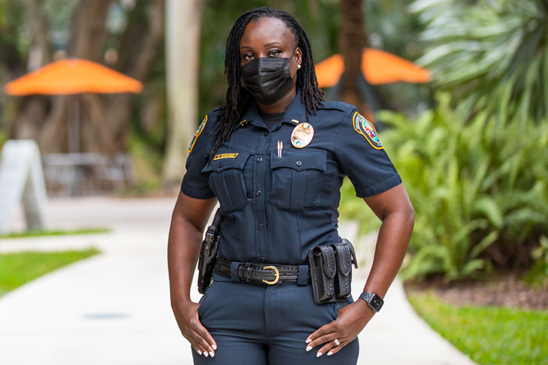 UMPD Lt. Octavia Bridges. Photo: TJ Lievonen/University of Miami