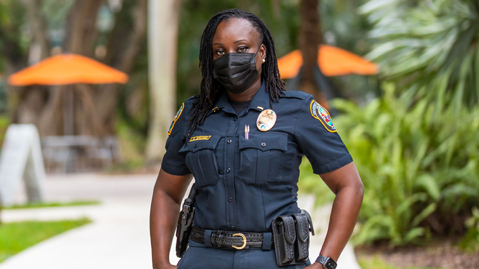 UMPD Lt. Octavia Bridges. Photo: TJ Lievonen/University of Miami