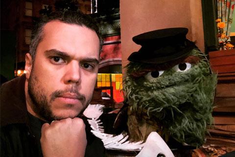 Eddie Alvarez with Oscar the Grouch