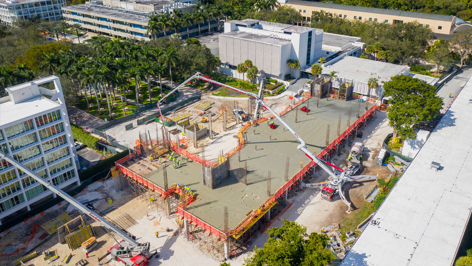 Construction at the site of the Frost Institute of Chemistry and Molecular Science. Photo: TJ Lievonen/University of Miami