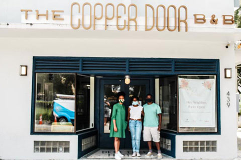 Lawes and owners of the Copper Door