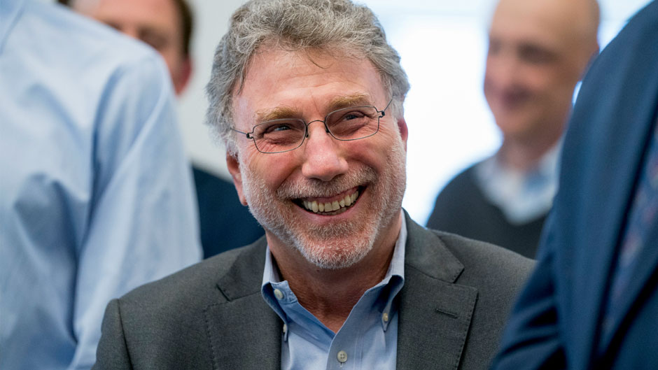 "Washington Post Executive Editor Marty Baron appears in the news room after winning two Pulitzer Prizes in Washington on April 16, 2018. Baron, executive editor of The Washington Post and one of the nation's top journalists, says he will retire at the end of February. He took over the Post's newsroom in 2012 after editing the Boston Globe and Miami Herald before that. He was portrayed in the 2015 movie ""Spotlight"" about the Globe's investigation of the Catholic Church. (AP Photo/Andrew Harnik, File)"