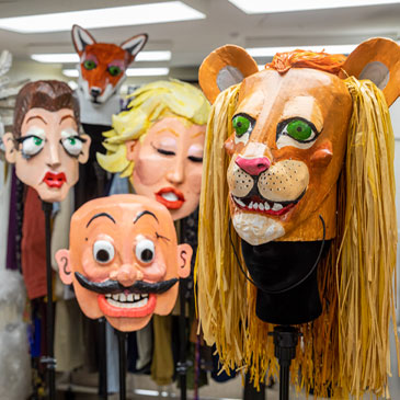 Masks designed for the Frost Opera Theater. Photo: Evan Garcia/University of Miami