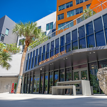 Exterior of Outdoor Adventures at Lakeside Village. Photo: Jenny Hudak/University of Miami