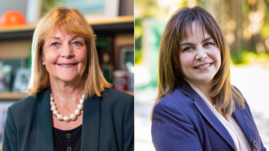 Patricia A. Whitely and Aileen Uglade. Photos: Evan Garcia/University of Miami