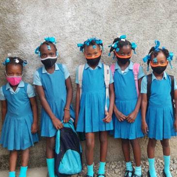 Students at the Ecole Marie Claire Heureuse de Milot, Haiti