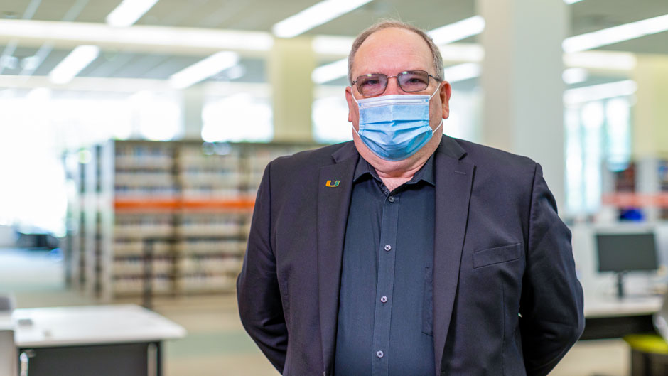 Charles Eckman, dean of University of Miami Libraries. Photo: Evan Garcia/University of Miami